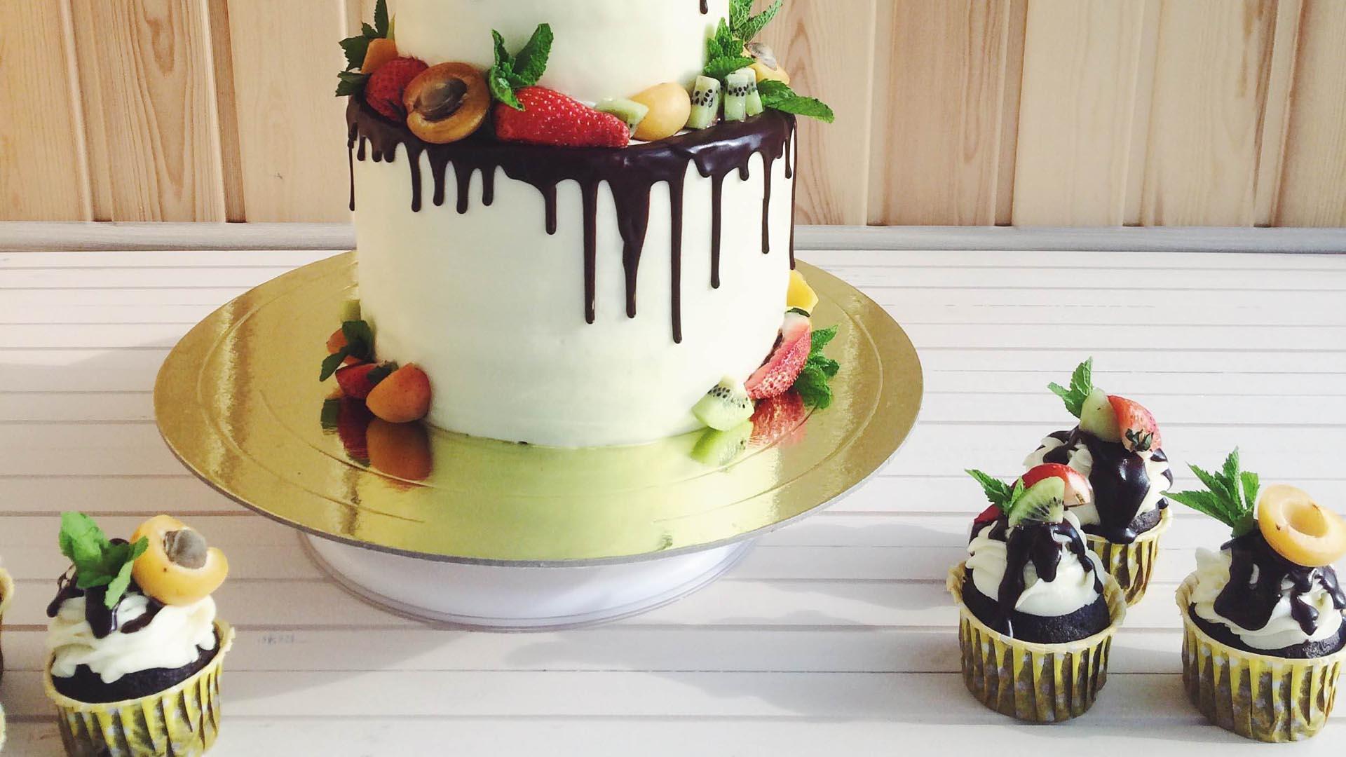 Торт Интрига с вертикальными коржами - рецепт с фото 10